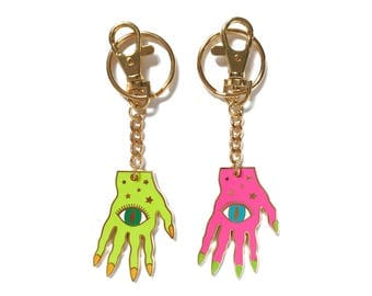 WITCH HAND KEYCHAIN - choose your color
