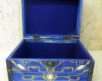 MUSICAL--The Large Boss Key Chest from The Legend of Zelda--Solid Wood with Brass and Resin Details--Ocarina of Time