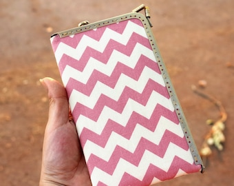 Chevron phone case, Triangle phone case with Leather Strap