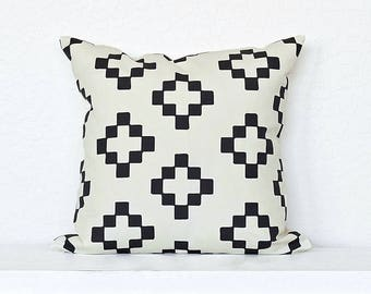 Ethnic Plus- Cross Pillow Cover - Off-White Combo