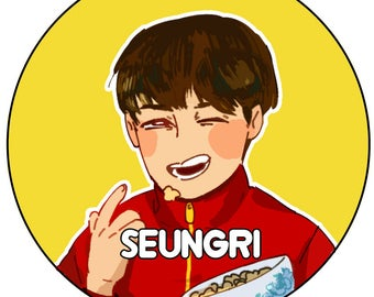 Seungri - Big Bang buttons Kpop fanart collection (based on mv FX) Top, G-dragon, Taeyang, Seungri, Daesung drawn by DreamEden