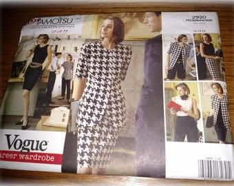 Vogue Career Wardrobe Tamotsu Misses 6-Piece 2920 Uncut 12 14 16