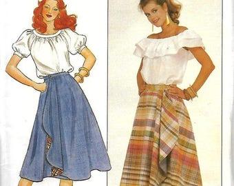 25% OFF Butterick 4404 Misses Reversible Wrap Skirt Pattern, Size 18-22, UNCUT