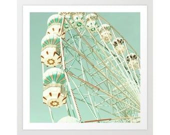 Boy nursery wall art boy nursery decor boy, ferris wheel art, nursery wall decor, nursery art, nursery print, carnival art, canvas art