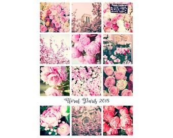 2018 Desk Calendar 2018 Calendar 2018 floral calendar 2018 Photo Calendar gift for her 2018 flowers calendar peonies roses office decor