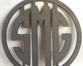 14-20 inch tall 3 Initials for Front Door, Monogram Door 3 Initials, 3 Initials Monogram, Door Wreath, Wedding Gift Idea. Housewarming Gift