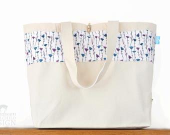 Flowers Large Tote Bag, Canvas Tote, Reusable Shopper Bag, Cotton Tote, Shopping Bag, Eco Tote Bag, Reusable Grocery Bag