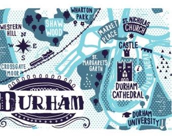 Durham A6 greetings card