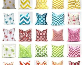 15% Off Sale Throw Pillow Covers,  Coral Pillow Cover, Green Pillow Cover, Aqua Pillow, Yellow Pillow, Throw Pillows, Decorative  pillow, Ac
