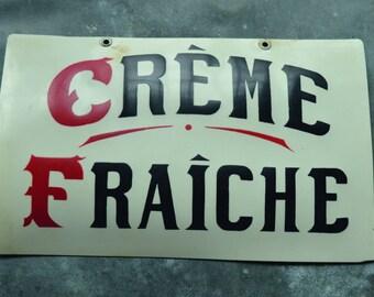 Ancienne étiquette de crémerie 01