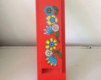 Vintage match box holder 1960's 1970's