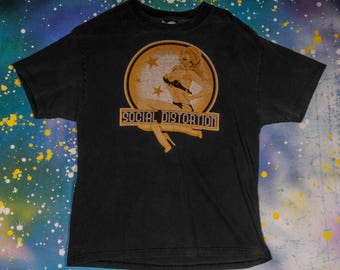 SOCIAL DISTORTION Punk  Rock T-Shirt Size L