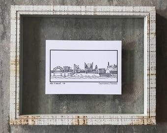 Chattanooga Tennessee Skyline - Elle Karel Illustration