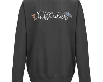 I'm A HUFFLECLAW Unisex BLACK JUMPER | Christmas Gift | Hogwarts Houses