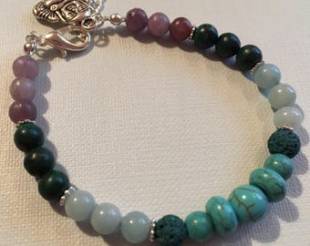 Ease Panic & Anxiety with Aromatherapy Essential Oil Diffuser and Gemstone  Bracelet