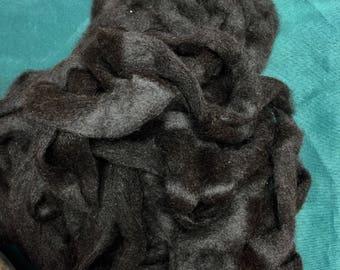 Alpaca Roving in Black