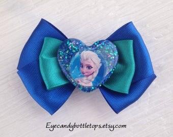 Blue Frozen Hair Bow