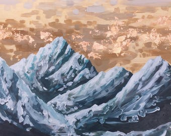 Cascadia in Bronze / Mountain Painting