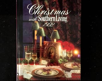 Vintage 1992 CHRISTMAS With Southern Living Hardcover Book
