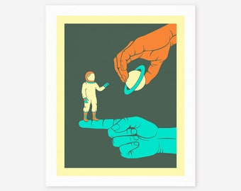 DREAMER (Giclée Fine Art Print, Photo Print or Poster Print) Colored version