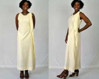 1960s Cream Maxi Dress