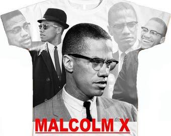 Malcolm X Shirt. Sublimation Shirt. Many Faces