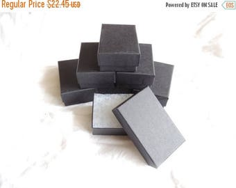 On Sale 100 Black Matte Cotton filled Presentation Jewelry Gift Boxes Display Boxes, Retail Boxes 2.5x1.5