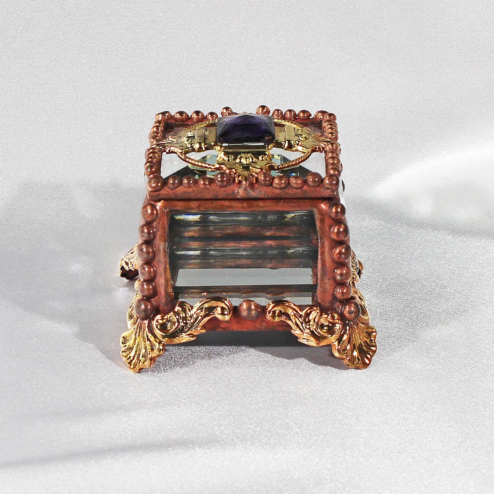 Fairy Box Center Piece - Glass Jewel, Stained Glass Box, Wedding ...
