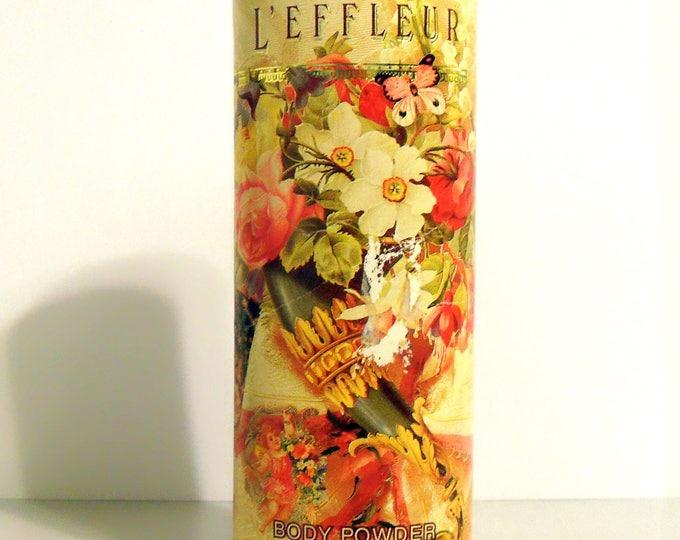 Vintage 1990 L'Effleur by Coty 3.7 oz La Fleur Perfumed Body Dusting Powder Talc Talcum