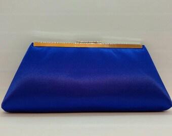Royal blue  wedding clutch purse/ Blue Bridal accessory / Something blue/ Evening purse/Bridal shower gift/Customized purse/ Prom clutch