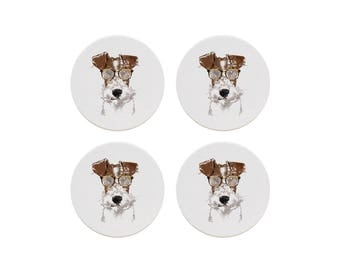 Fox Terrier Coaster Set