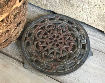 French Cast Iron Trivet, French Farmhouse Decor, Hot Plate