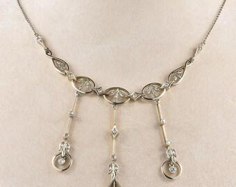 Edwardian sweet diamond neglige necklace