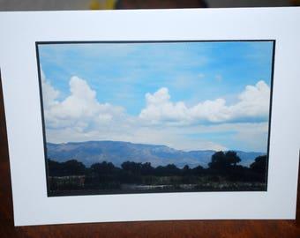 photo card, sandia mountains, Albuquerque photograph