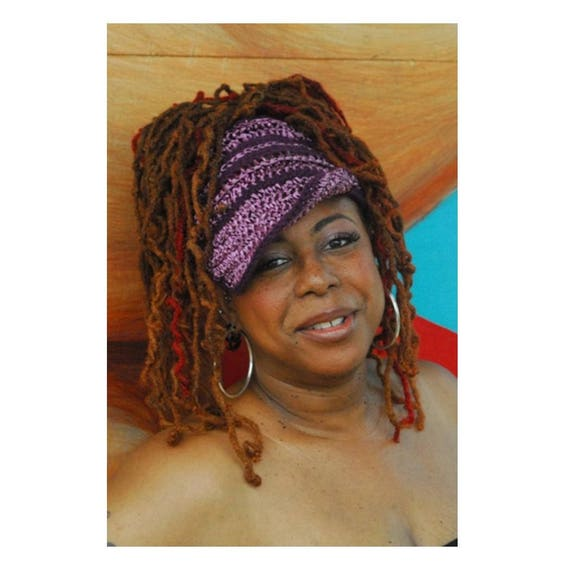 Gele 2 Cotton & Raffia . Crochet Hat. Gele Hat. Wraps. Loc hat. Dreadlock Hat.  Ta Ankh.