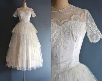 Rose / 50s wedding dress / bridal gown