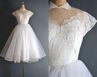 Kat / 50s wedding dress / vintage 1950s wedding dress