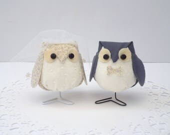 His and Hers Wedding Owl Set ( NEW )