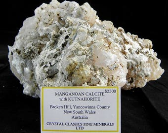 Manganoan Calcite w/ Kutnahorite from Metropolis collection Australia list 2500