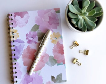 Pink Floral Pattern A5 Notebook