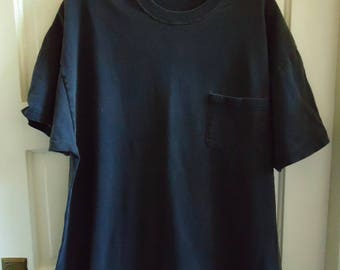 Vintage 90s Fade to Gray BLACK POCKET T Shirt sz L/XL