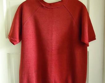 Vintage 60s TOWNCRAFT Short Sleeved Crewneck Sweatshirt sz M
