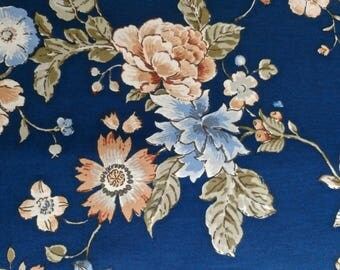 Blue Floral Tablecloth 50 inches wide by 72 inches long