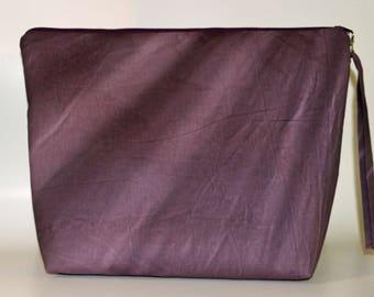 Purple Aged Muslin project bag