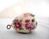 Vintage Porcelain Egg Pendant