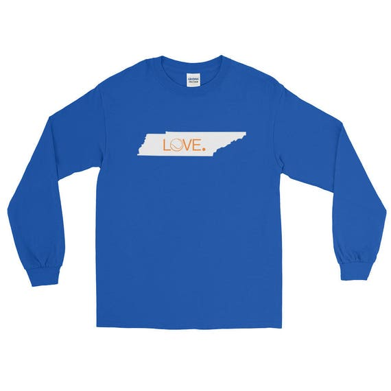 Tennessee Tennis State Love Long Sleeve T-Shirt Unisex many color choices