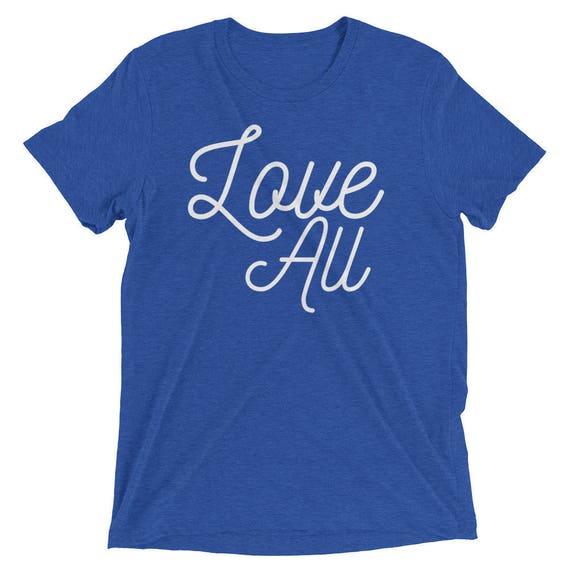 Tennis Love All Unisex tri-blend tshirt shirt tee Short sleeve t-shirt