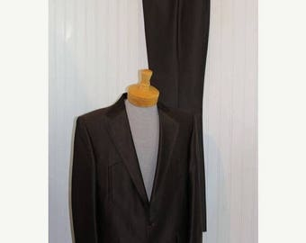 60% OFF Clearance Sale NWT Vintage Men's Brown Pagano West Tailored Apparel Western Suit Jacket Blazer Coat Pants Size 42L Made in Usa