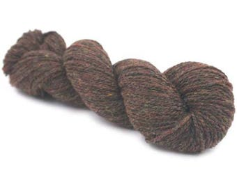 New York 100 % Organic Merino Wool - Brown Melange