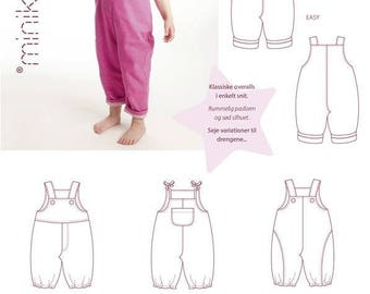 Overalls - 20350 - Minikrea sewing pattern - 6mo-3yr (4823.90.00.95)